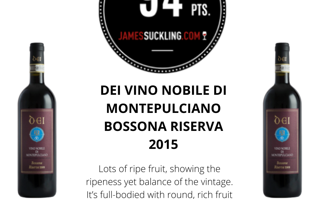 James Suckling – 94 points to Riserva Bossona 2015