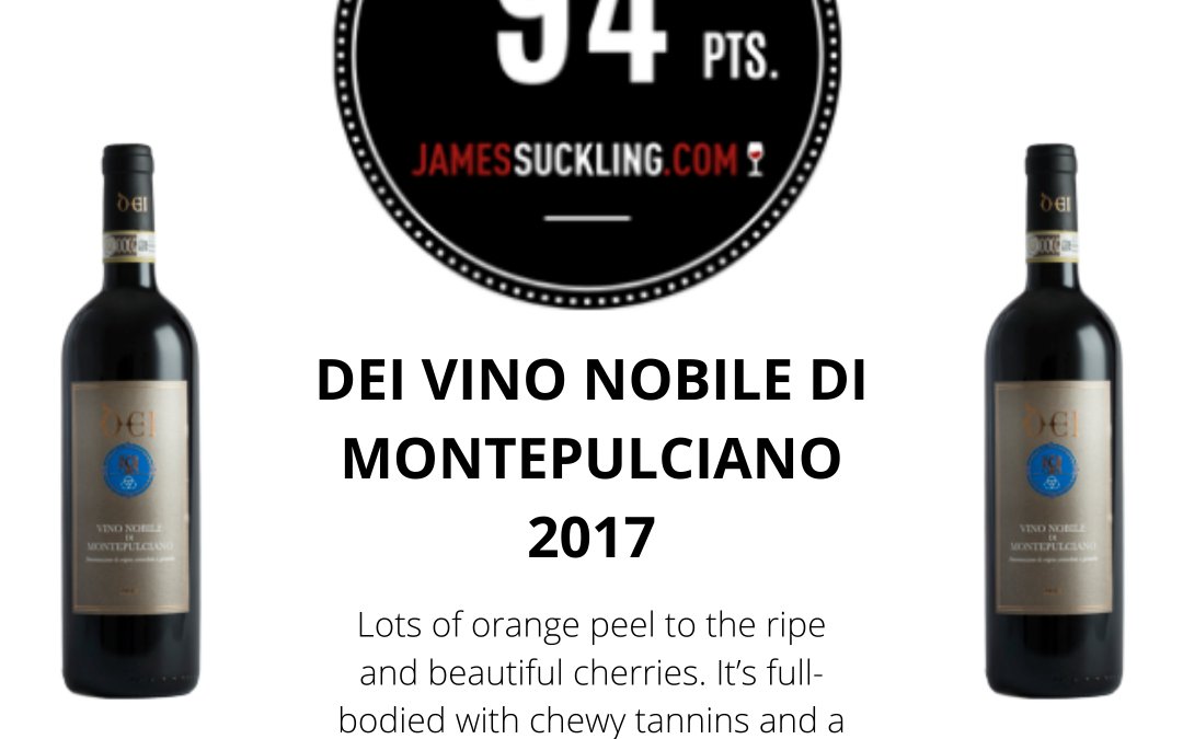 James Suckling: 94 points to our Vino Nobile di Montepulciano 2017
